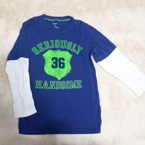 "Carter's Size 6 ""Seriously Handsome"" Long Sleeve"
